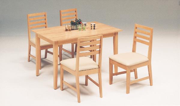 あたたかみのあるナチュラルなデザイン 人気のカントリー調でオシャレなラバーウッド材を使った食卓セット シカゴダイニング5点セット