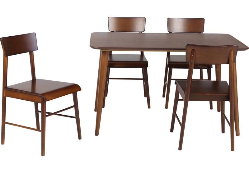 優しい木のぬくもりが、大人のくつろぎ空間を演出するダイニング5点セット チェア完成品 4人暮し 長方形 テーブル 北欧 おしゃれ かわいい 【送料無料】