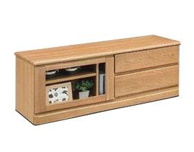 【日本製 完成品 幅120cm】ワンルームのお部屋にも設置できるコンパクトサイズ テレビボード テレビ台 ローボード 北欧 おしゃれ かわいい おしゃれ 木製Ribero120 (ナチュラル)AV収納 北欧 おしゃれ かわいい