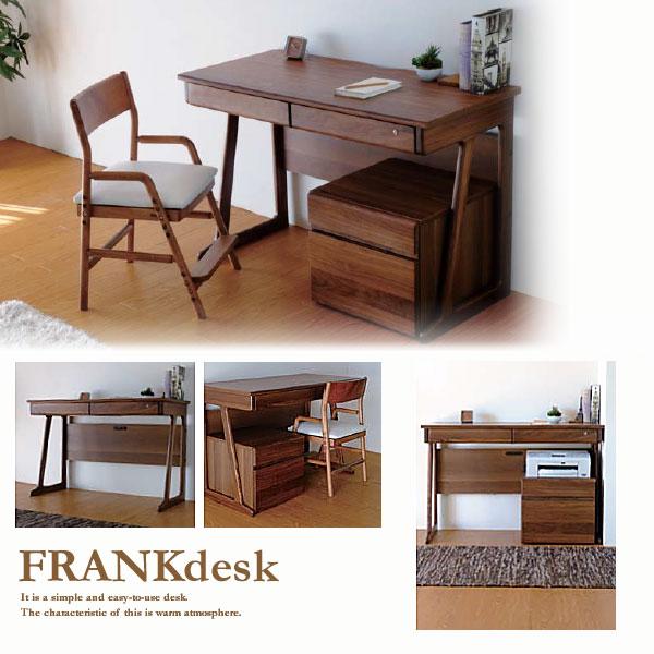 【送料無料】デスク 収納 勉強机 木製 子供用 kids シンプル desk 引き出し 収納ワゴン 長く使えるシンプルデザインフランクデスク