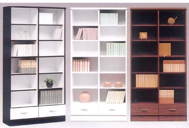 【お手頃プライスの書棚!!】【スペースを有効活用♪】 本棚 飾り棚 ビック オープン書棚(BK・WH・BR)