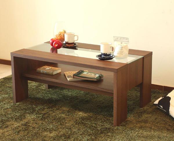 天然木リビングテーブル 送料無料 センターテーブル コーヒーテーブル カフェテーブル つくえ テーブル カフェ cafe オシャレ 人気 木製 シンプル グロース900リビングテーブル(ウォールナット)