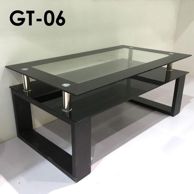 【送料無料】リビングテーブル ガラス天板【105×60】長方形 リビングテーブル ガラス 天板 スタイリッシュデザイン センターテーブル 棚付 テーブル ローテーブル GT-06 105ガラステーブル