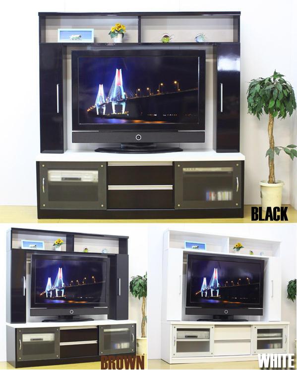 【リビングボード】壁面収納 テレビボード ハイタイプ 150センチテレビ台 大人気商品 ホワイト ブラック ブラウン キャビネット シェルフ 壁面収納 収納付きテレビ台 チェイサー150TVボード