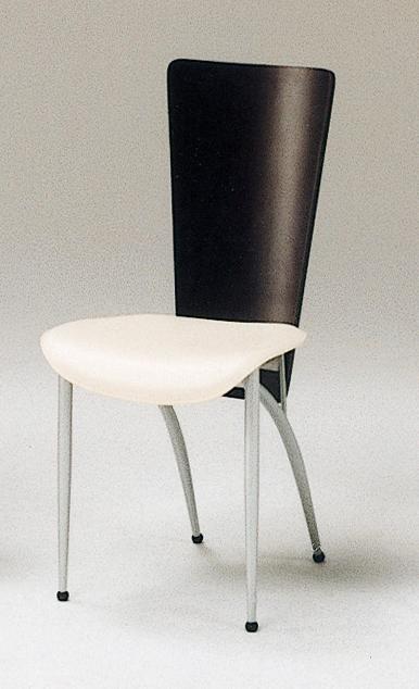 メチャ安価格!さらに送料無料!!ホワイトとブラックのモノトーンなデザインがシンプルだけど個性的でオシャレ!ダイニングがかっこよくきまります!ダイニングチェア2脚セット!【クレジット】【代引】【後払い】OK FP-DC-7013(2脚セット)