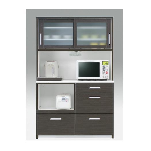 【食器棚 完成品 食器棚 引き戸】たっぷり収納できる 120cm幅の食器棚 重ねるだけの完成品 キッチンボード ブラウン&ホワイト2色から選べる 幅120cm フォルテ120オープンダイニング