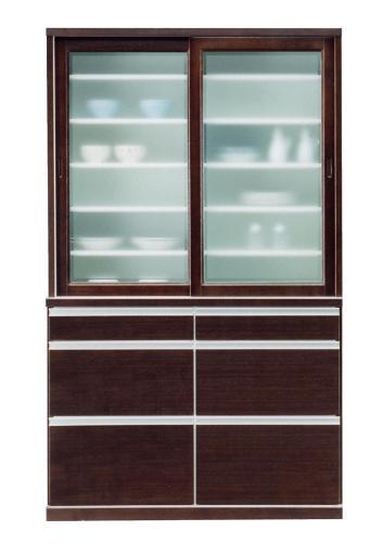 食器棚 完成品 食器棚 引き戸 引き戸タイプのナチュラル食器棚 モダンにお部屋をコーディネート!幅120cm シンプルデザイン 高さ200cmハイタイプ ダイニングボード モナリザ120ダイニングボード