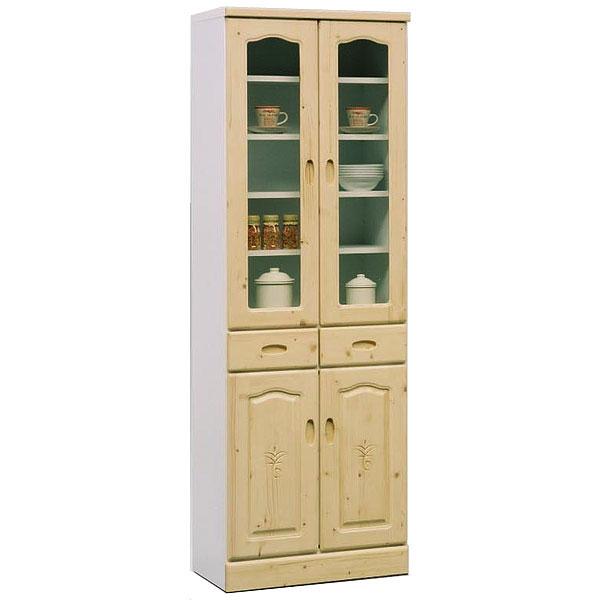 食器棚 キッチンボード キッチンキャビネット スリム 完成品 日本製 国産 幅60cm 幅60 木製 ガラス シンプル 和 モダン キッチン収納 すき間収納 収納 ハイタイプ 収納 国産 人気 白トンパ60カップボード ホワイト