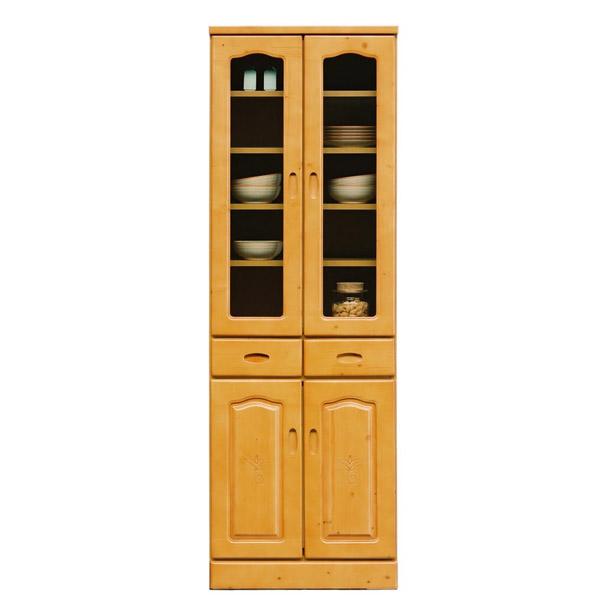 食器棚 キッチンボード キッチンキャビネット スリム 完成品 日本製 国産 幅60cm 幅60 木製 ガラス シンプル 和 モダン キッチン収納 すき間収納 収納 ハイタイプ 収納 国産 人気 白トンパ60カップボード ナチュラル 北欧 おしゃれ かわいい