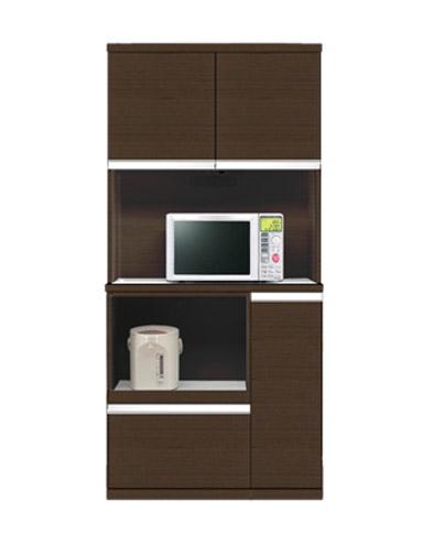 キッチンボード 90 日本製 ワイドタイプ 食器棚 ポイント90キッチンボード(ブラウン) 新生活