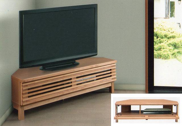 【自然塗装オイル仕上げのアルダー天然木を使用】 テレビボード コーナー テレビ台 幅120 脚付きアザース120コーナーTV(NA)【送料無料】