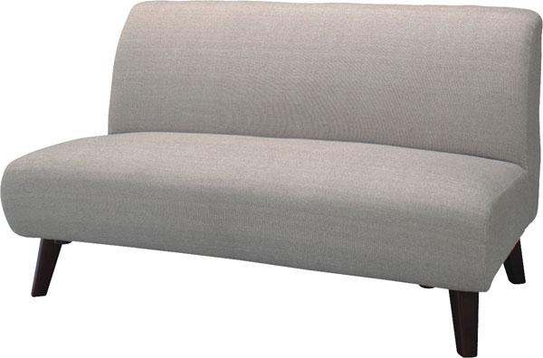 肘なしすっきり2Pソファ ゆったり2人掛けソファー フロアソファ- ゆったり2・5Pベージュ・グレー SS-95