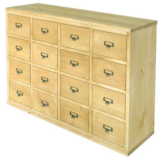 パイン材 木製 収納ボックス 収納BOX 完成品 ネームプレート付A301 drawers box