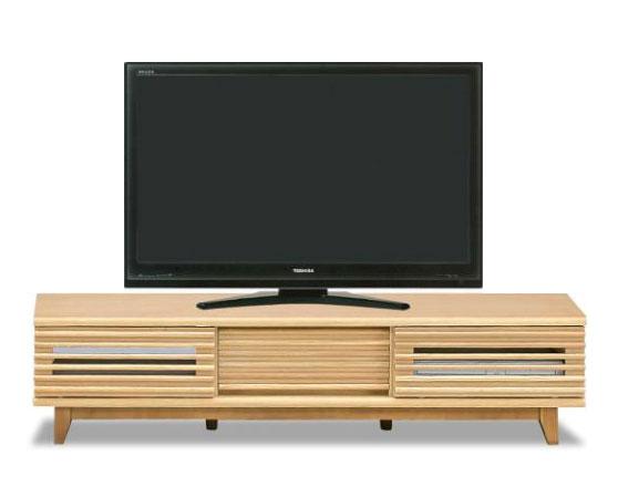人気の格子デザイン 引き戸タイプ タモ突き板の高級感あふれるテレビボード 完成品 ロータイプ AVボード ループ150TVボード(NA) 【送料無料】
