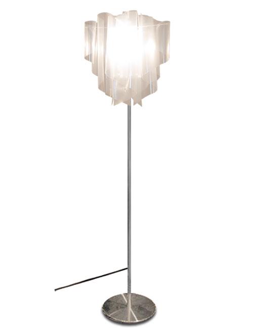 透明感のあるオーロラをイメージしたデザイン【DI CLASSE(ディ クラッセ)】 フロアランプ Auro floor lamp グッドデザイン賞 シェードのドレープ アウロフロアランプ