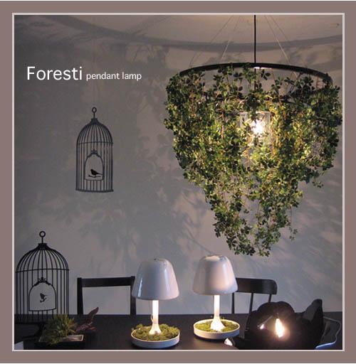 日々の暮らしをちょっとずつ癒してくれる【DI CLASSE(ディ クラッセ)】 ペンダントランプ Foresti grande pendant lamp 豊かなグリーン 電球型蛍光灯対応可 フォレスティ グランデ ペンダントランプ