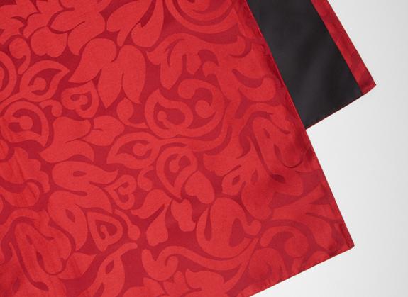 ベットライナー ベットスロー レッド 赤色 柄入 W650×H2500mm エアファクトリー