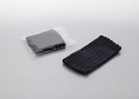 ヘアターバン 1600個 黒色 透明OP袋入ダイト