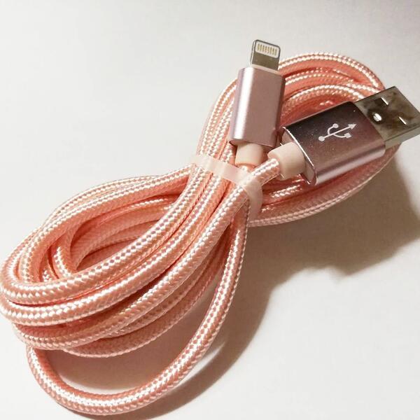 iPhone 充電 ケーブル 35%OFF アイフォン データ転送 USB 5☆大好評 2m ローズゴールド
