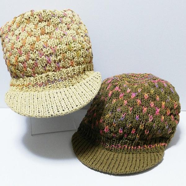 至高 帽子 キャップ つば付き 編み 伸縮 つば短め お得 エスニック 綿100% ファッション ミックスカラー キャスケット アジアン