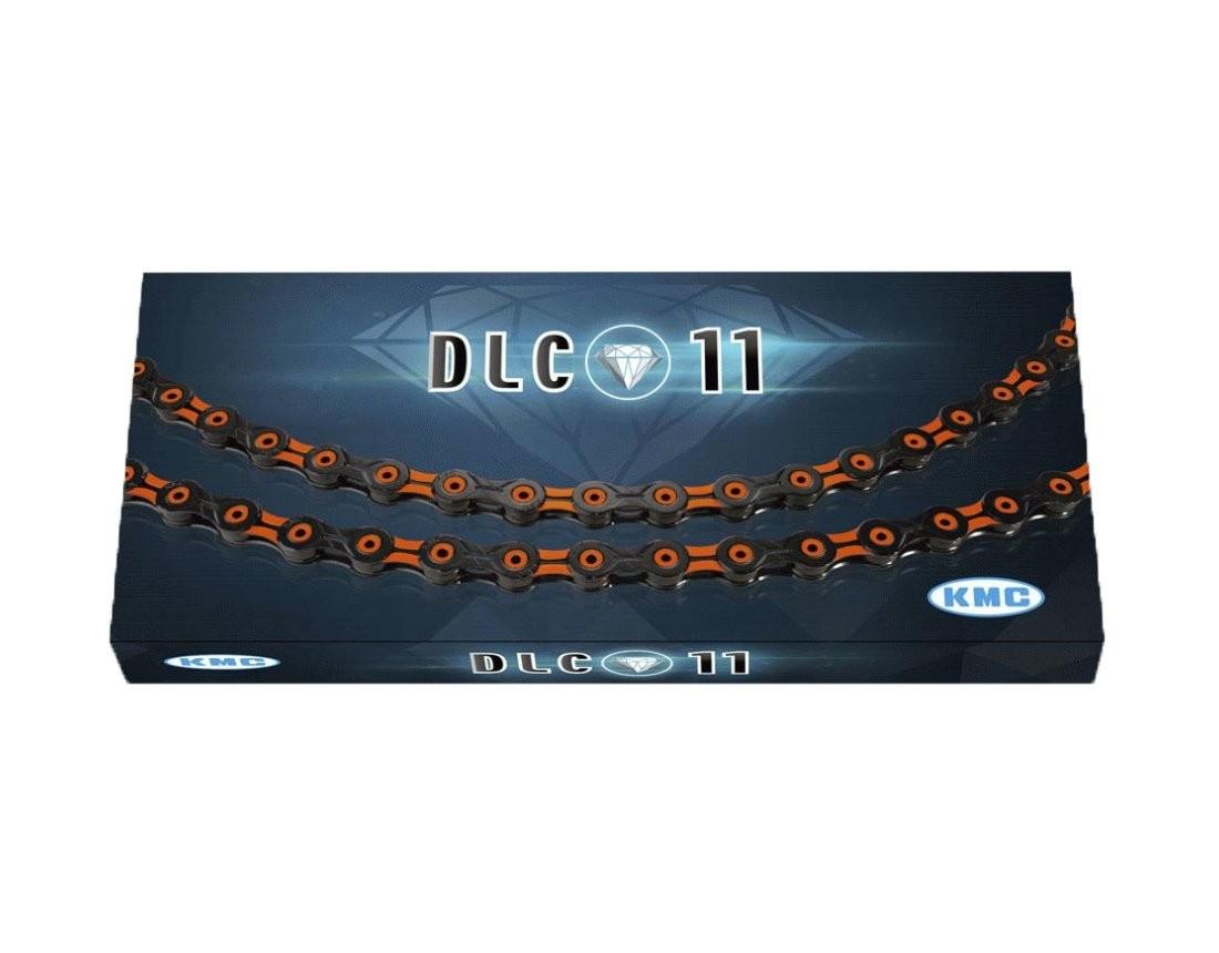 KMC ケイエムシー X11SL DLC Super Light 11スピード用チェーン 116LINK ブラック/オレンジ