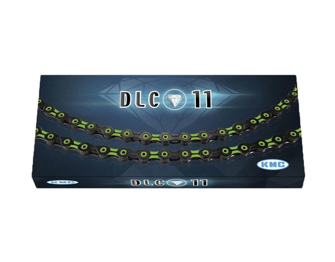 KMC ケイエムシー X11SL DLC Super Light 11スピード用チェーン 116LINK ブラック/グリーン