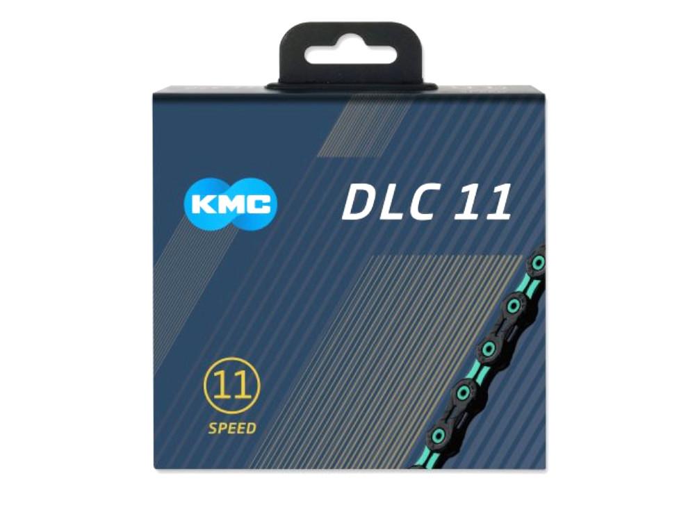 KMC ケイエムシー X11SL DLC Super Light 11スピード用チェーン 118LINK ブラック/チェレステ
