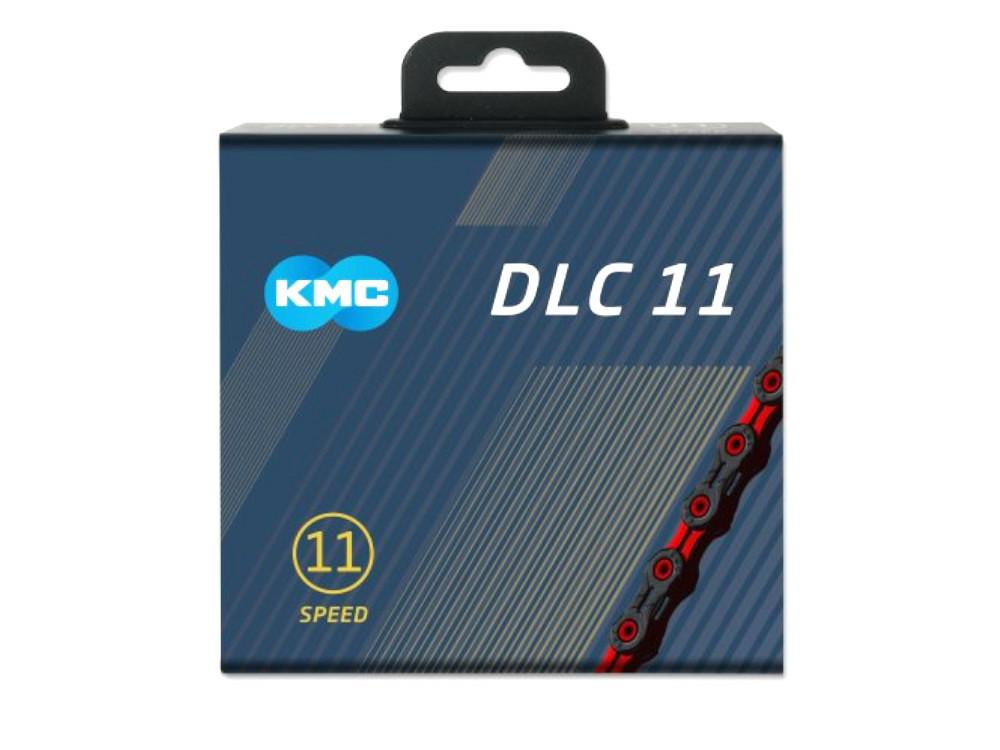 KMC ケイエムシー X11SL DLC Super Light 11スピード用チェーン 118LINK ブラック/レッド