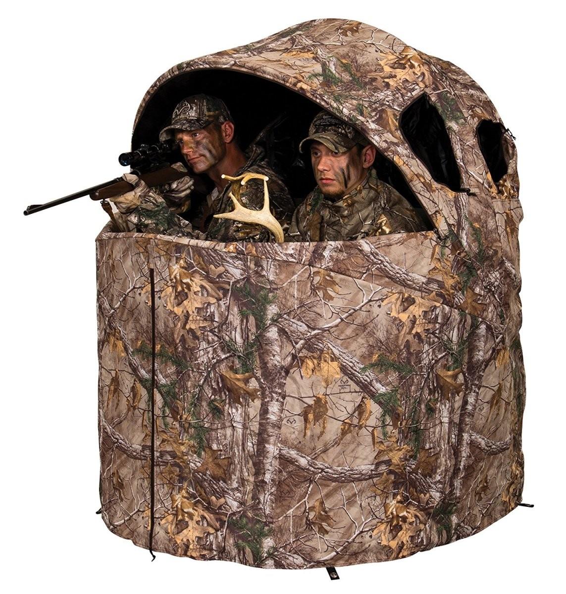 【アウトレット品】Ameristep アメリステップ テントチェア ブラインド デラックス Tent Chair Blind Realtree Xtra Deluxe 2人用