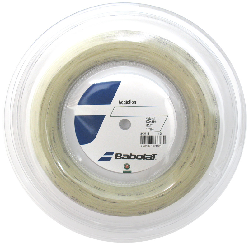 Babolat バボラ Addiction アディクション 125/130/135 200mロール 硬式テニス ストリング ガット BA243115