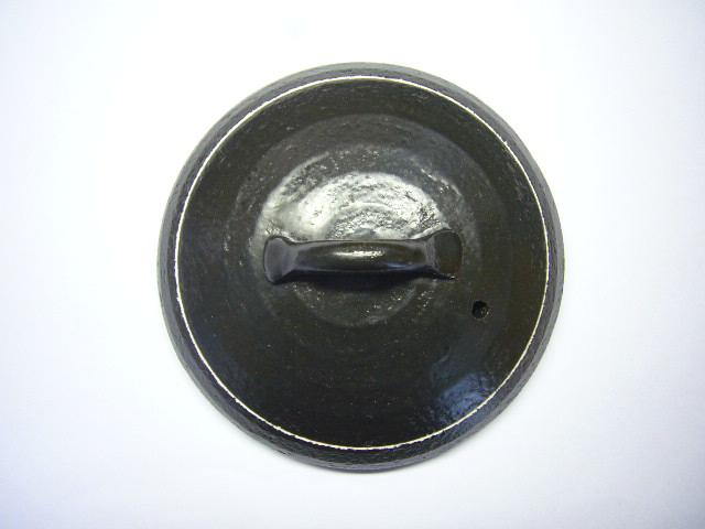 数量限定特価品 黒マット白ライン三合炊きご飯鍋用 蓋