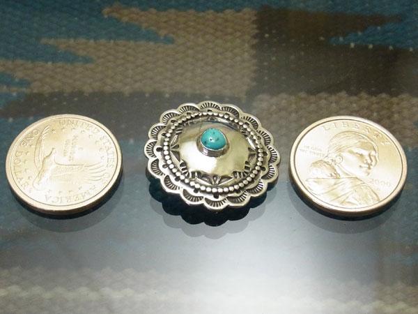 睡美人绿松石亚利桑那州亚利桑那州土耳其石康乔手工银中鼻甲按钮手作银饰品本机 (本机) 精神 DIY 银第一部分的一种独特氧化古董处理