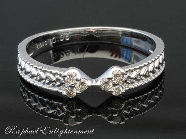 【永遠の幸せと出会うために】ダイヤモンド・K10WG・ピンキーリング(1~8号)パワーストーン リング 指輪パワーストーン リング 指輪パワーストーン リング 指輪