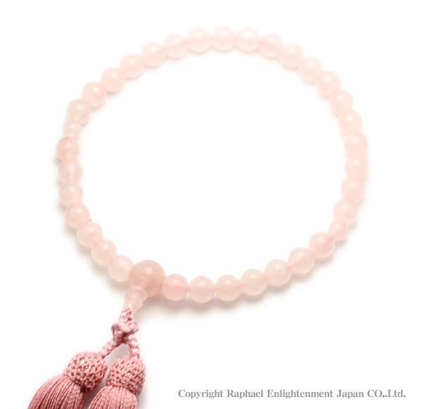 念珠(数珠)-紅水晶(ローズクォーツ)C