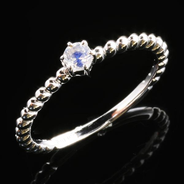 【永遠の愛を誓いあう】ムーンストーン・K10WGリング(1号~20号)パワーストーン リング 指輪パワーストーン リング 指輪