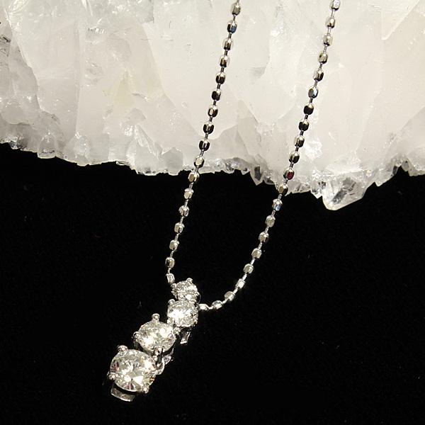 【純粋無垢な輝き】ダイヤモンド・K18WGペンダントパワーストーン ペンダント