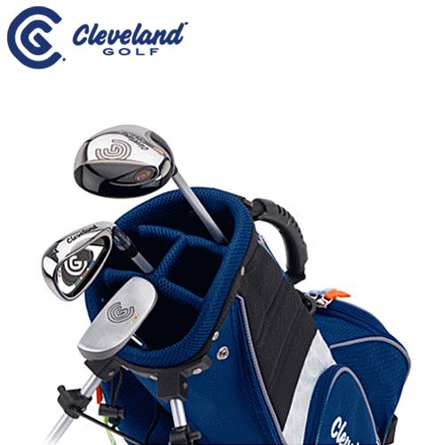 【ゴルフセット】ダンロップ/DUNLOP クリーブランド/Cleveland ジュニア ゴルフ クラブ SMALL3本セット(FW、I#7、パター)【スモール(対象目安:3~6歳/90cm~110cm)】【スタンドキャディーバッグ付き】ゴルフセット クラブフルセット