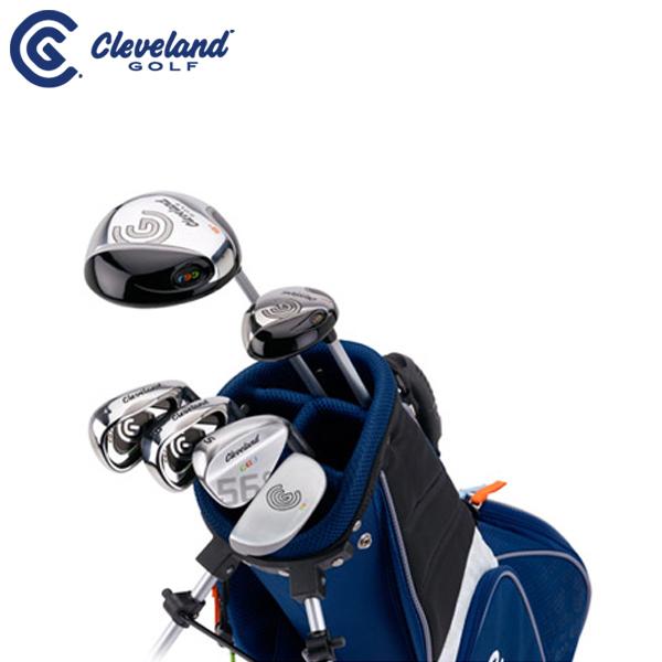 【ゴルフセット】ダンロップ/DUNLOP クリーブランド/Cleveland ジュニア ゴルフ クラブ MEDIUM6本セット(#1、UT、I#7、I#9、ウェッジ、パター)【ミディアム(対象目安:7~10歳/115cm~135cm)】【スタンドキャディーバッグ付き】