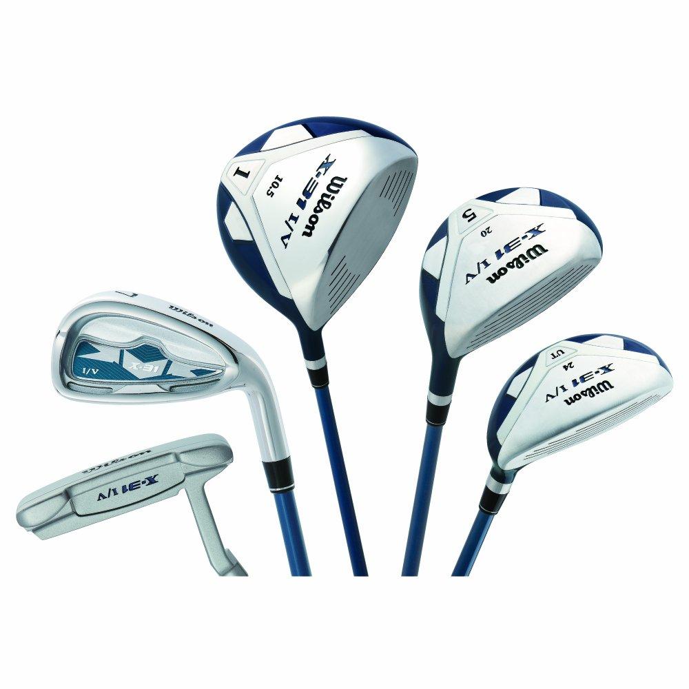 WILSON-ウィルソン ゴルフ X31 IV クラブセット 12本組 (1W,5W,UT(24°),#5~9,PW,AW,SW,PT(34インチ))スチールシャフト ゴルフクラブセット