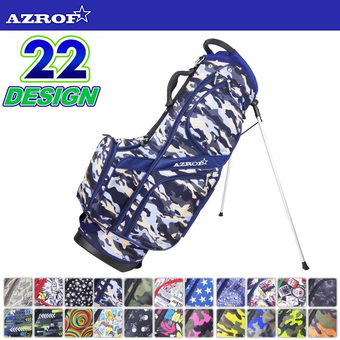 AZROF アズロフ STAND CADDIE BAG スタンド キャディーバッグ AZ-STCB01(No.03~105)【18】【ゴルフ用品】バッグ キャディバッグ ゴルフバッグ
