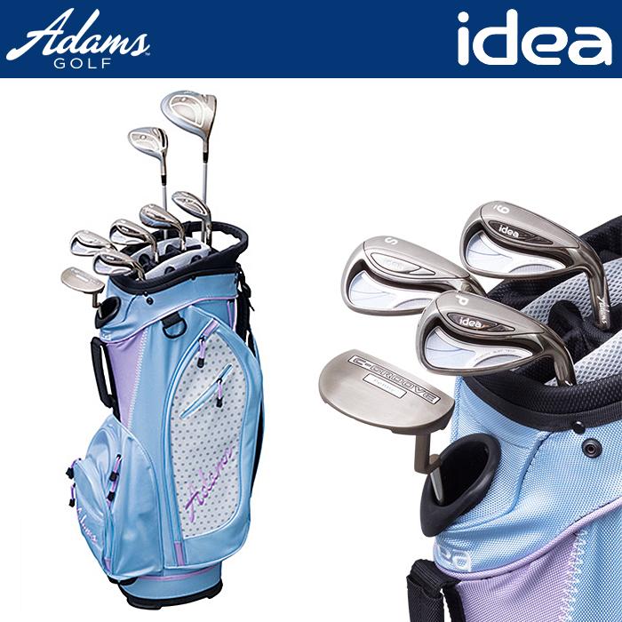 Adams Golf アダムス ゴルフ ウィメンズ クラブセット 8本組 ゴルフクラブ キャディーバッグ付属 女性用 レディース LADYS Iron ドライバー フェアウェイウッド(#5) ユーティリティー(#6,7) アイアン (#9,PW,SW) パター【18】ゴルフ クラブ ゴルフ用品
