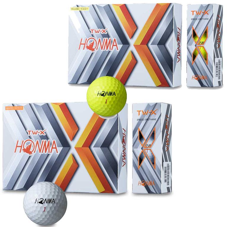 あす楽 対応商品 本間ゴルフ HONMA GOLF ゴルフボール 1ダース TWX セール 特価 《週末限定タイムセール》 NEW 20 信頼 ホンマゴルフ TW-X