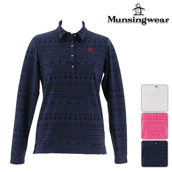 ◆【40%OFF】マンシングウェア 秋冬モデル レディース 長袖シャツ  MGWMJB17 Munsingwear 【18】