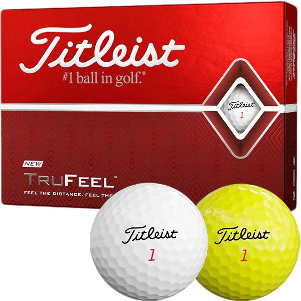 あす楽 商店 対応商品タイトリストゴルフボールの中で最もソフトな打感 タイトリスト 品質保証 NEWタイトリスト トゥルーフィール ゴルフボール 19 trufeel 1ダース 12個入 Titleist