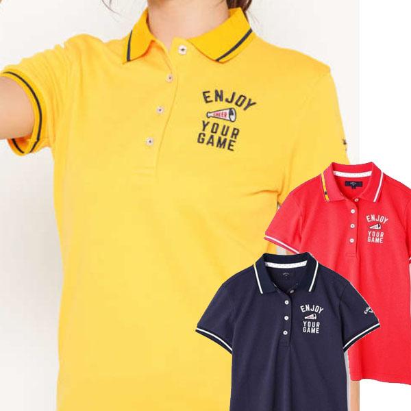 キャロウェイ 春夏モデル ゴルフウェア WEB限定タイムセール 売れ筋 50%OFF アパレル 春夏 19 レディース 半袖シャツ 品質保証 241-9151802 ゴルフウエア