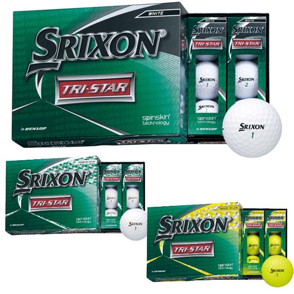 スリクソン 全国どこでも送料無料 SRIXON 12個入り ゴルフボール あす楽 20 1ダース トライスター ダンロップ TRI-STAR ラッピング無料