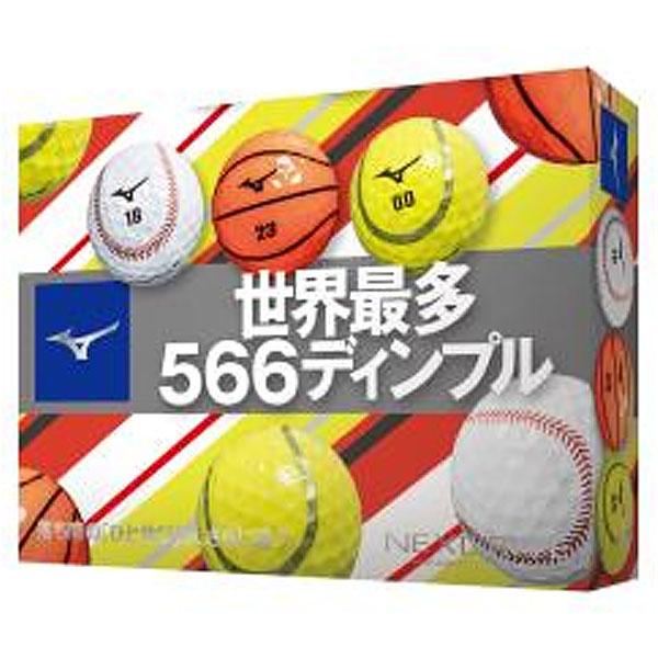 直送商品 世界最多ディンプル ネクスドライブから楽しいスポーツボールバージョンが追加 新作続 20SS ミズノ ネクスドライブ ゴルフボール 1ダース 5NJBM320 20