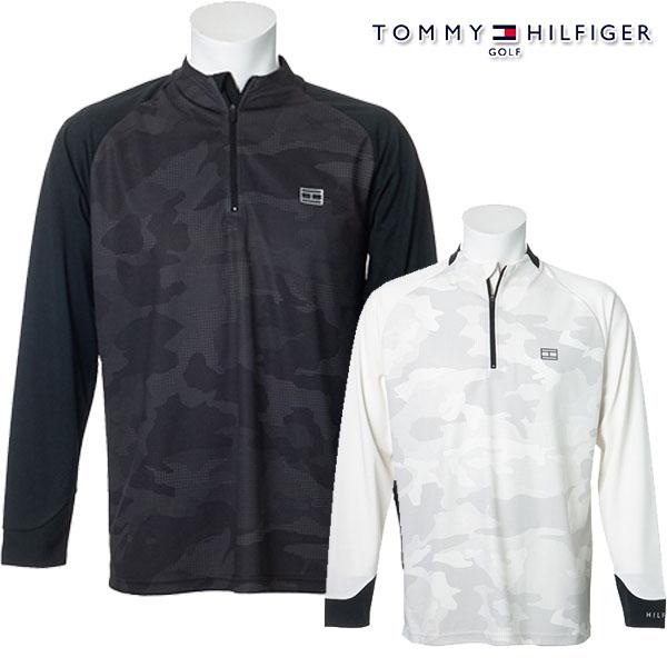 トミーヒルフィガー 商舗 メンズ シャツ 30%OFF 秋冬モデル TOMMY HILFIGER GOLF CAMOFLAGE L 店 セール S HALF-ZIP 20 thma091 SHIRTS 特価