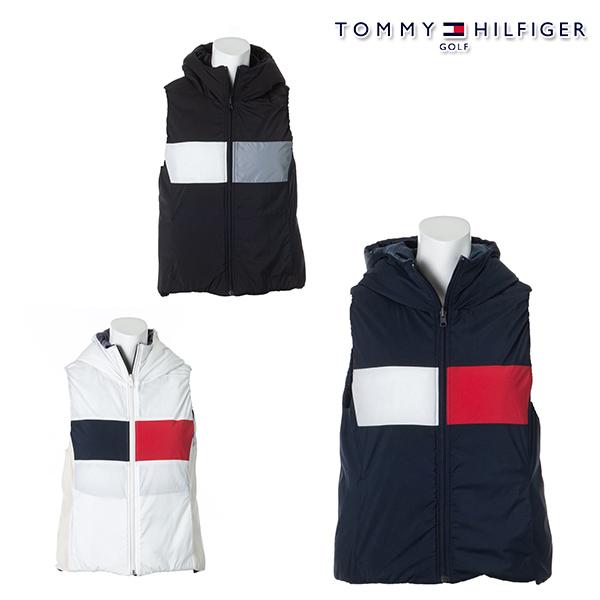 トミーヒルフィガー 再再販 レディース ベスト 残り ネイビーMサイズ 1枚限り 30%OFF 秋冬モデル TOMMY HILFIGER 特価 REVERSIBLE thla075 TH 20 セール VEST FLAG GOLF 激安通販