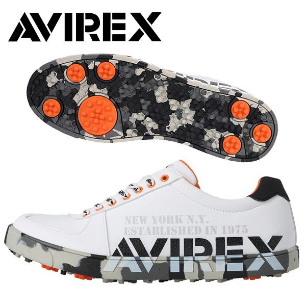 残り 低廉 26cm 1足限り AVIREX アヴィレックス 2021年春夏モデル メンズ アビレックス 夏 靴紐 春 国内在庫 ゴルフウエア ゴルフシューズ 21 20FW-ACN19 スパイクレス